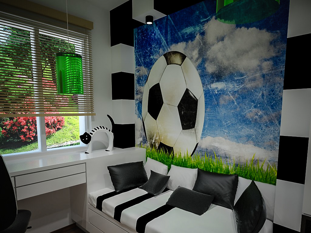 Pokój fana piłki nożnej