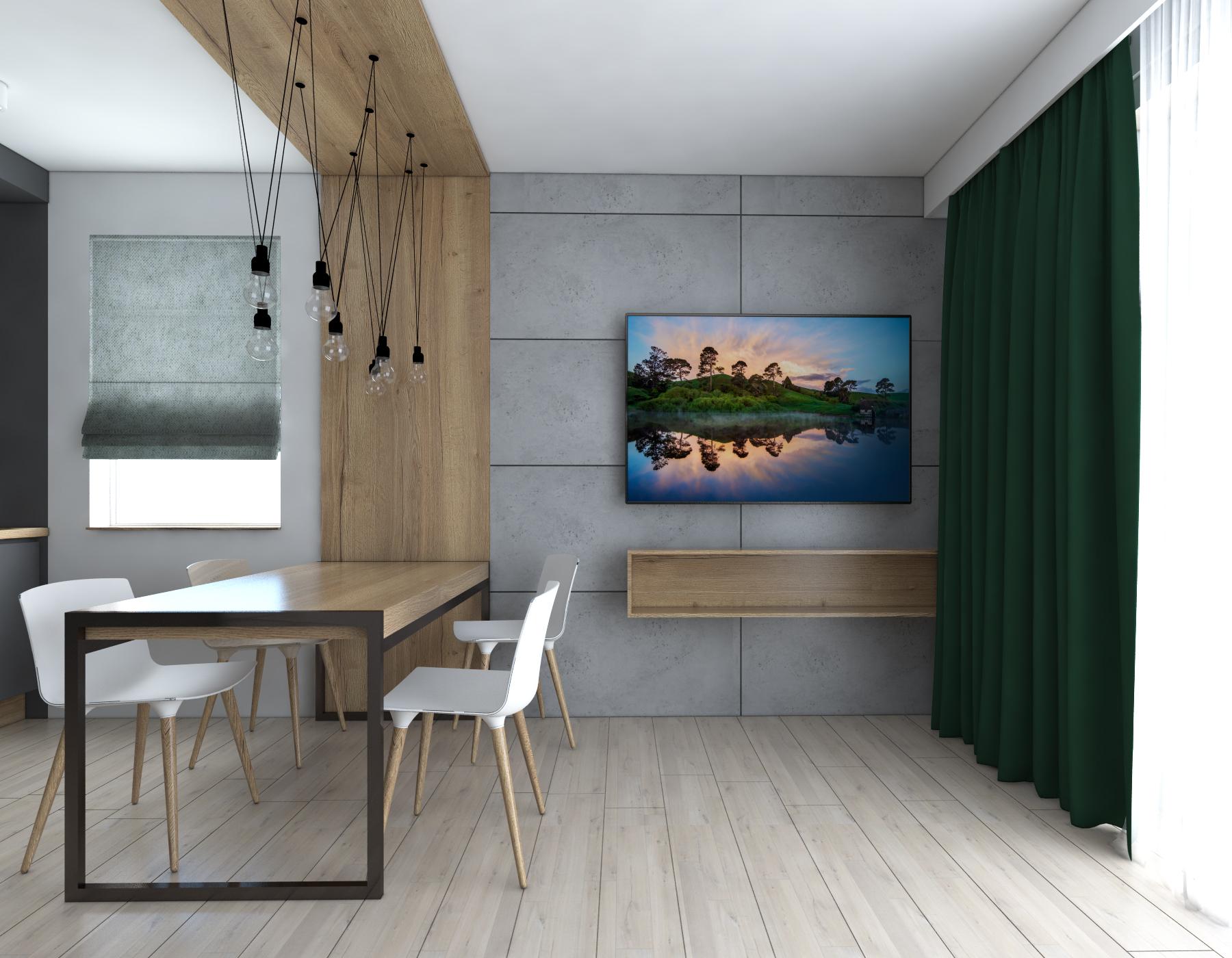 beton architektoniczny ściana TV