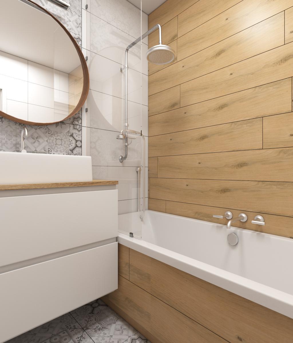 łazienka W Drewnie Bieli I Szarości Im Wnętrza Blog