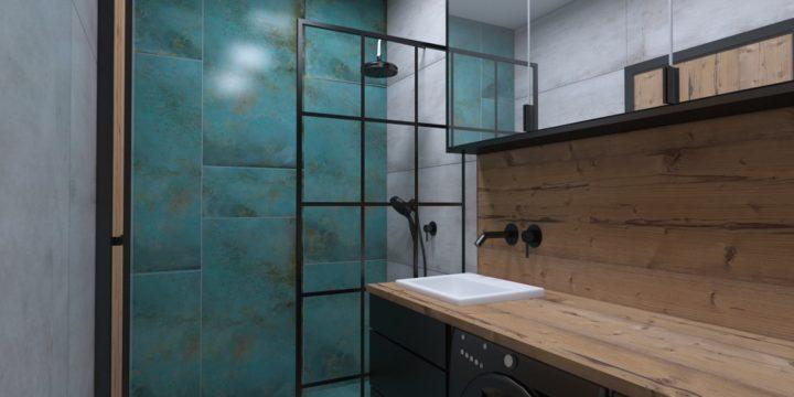 Łazienka w stylu industrialno – loftowym