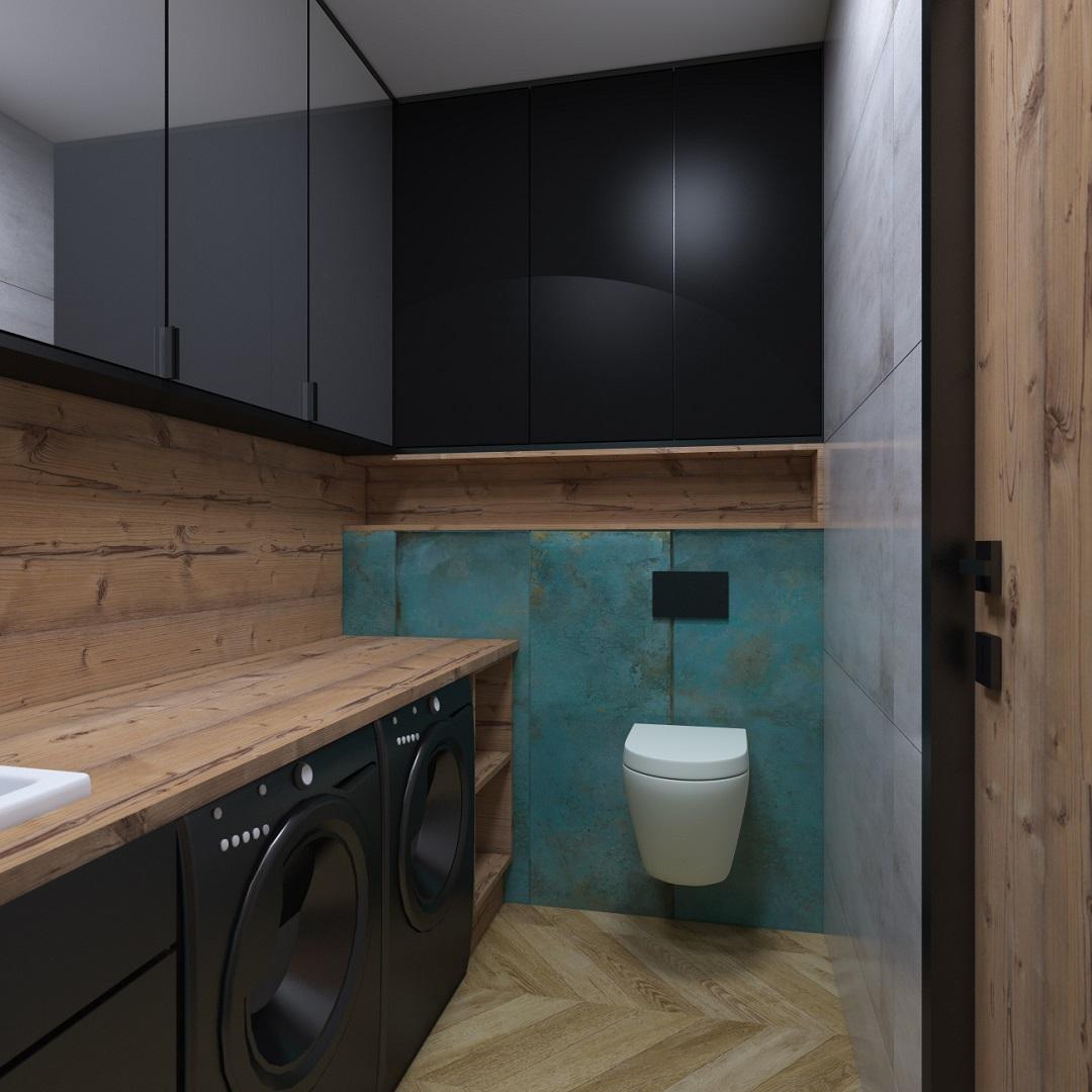 łazienka w stylu industrialno lofttowym