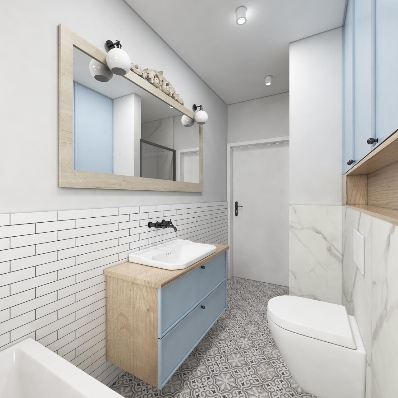 łazienka w nadmorskim stylu